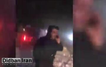 واژگونی اتوبوس تیم فوتبال دراثر سقوط بهمن در جاده چالوس / فیلم