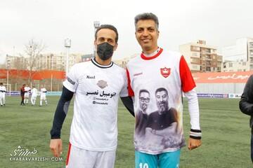 خوش و بش علی کریمی و عادل فردوسیپور پیش از بازی دوستانه / تصاویر