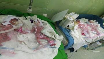 تولد نوزادان چهارقلوی گلستانی توسط مادر ۱۸ ساله / فیلم