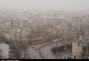 ناسالم شدن هوای شیراز در آخرین هفته سال ۱۳۹۹