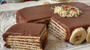 آموزش درست کردن کیک یخچالی با بیسکوییت