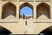 پرتاب ترقه به بناهای تاریخی اصفهان در شب چهارشنبه آخر سال
