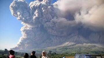 صحنه فوران آتشفشان فوئگو در آمریکای جنوبی / فیلم