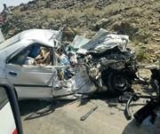 تصادف خونین کامیون با خودروی سواری/ ۱۳ نفر کشته و زخمی شدند