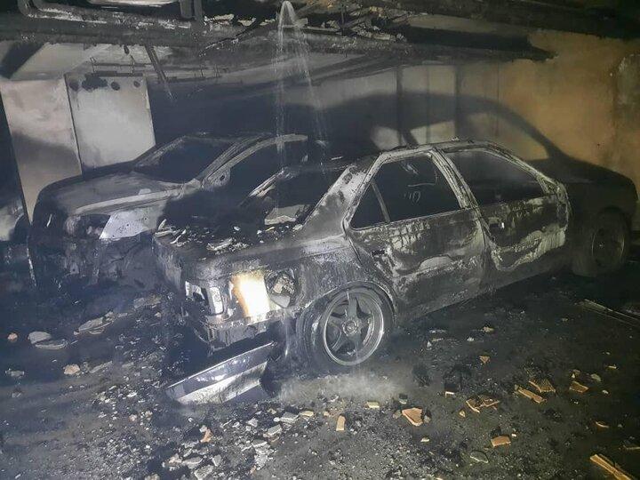 ۴ خودرو در شهرک نفت طمعه حریق شدند