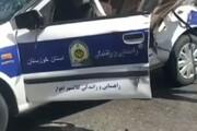 تصادف چند خودرو با پلیس راهور در اهواز /فیلم