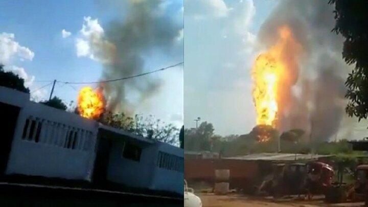 انفجار شدید در شرکت نفت و گاز ونزوئلا