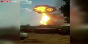 وقوع انفجار تروریستی در شرکت نفتی ونزوئلا /فیلم