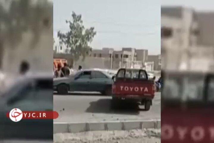 فیلمی از محل انفجار تروریستی سراوان