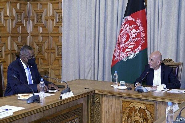 دیدار وزیر دفاع آمریکا با رئیس جمهور افغانستان