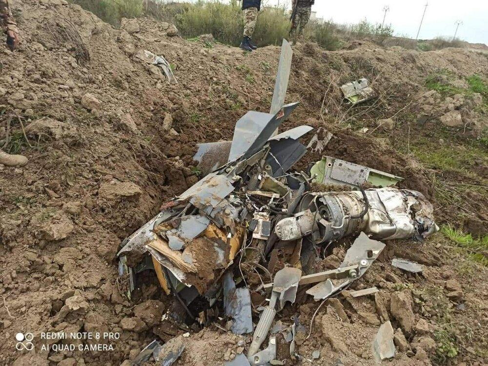 سرنگونی پهپاد آمریکایی در شمال عراق /عکس