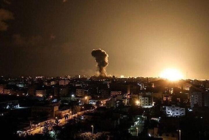 حمله هوایی جنگندههای رژیم صهیونیستی به غزه / فیلم