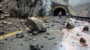 مرگ زن جوان در اثر ریزش کوه جاده هراز