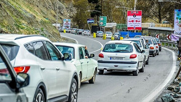 یک طرفه شدن جاده چالوس به دلیل بازگشت مسافران نوروزی