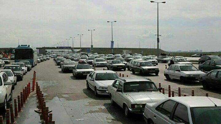 ترافیک نیمه سنگین در محور کندوان
