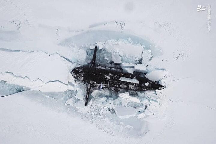 زیردریاییهای هستهای روسیه در قطب شمال / فیلم