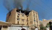 انفجار گاز آپارتمان مسکونی در کیانآباد اهواز / فیلم
