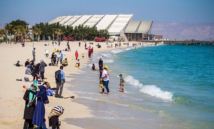 ورود ۷۵ هزار گردشگر به جزیره کیش تا ششم فروردین