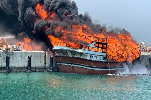 آتشسوزی در لنج صیادی ۲ کشته برجای گذاشت