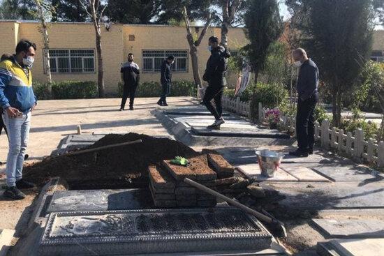 نامداری در همسایگی مرحومه کیانفر بهخاک سپرده میشود