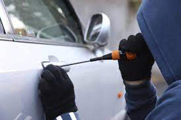 تلاش ناکام سارقان برای دزدیدن خودرو / فیلم