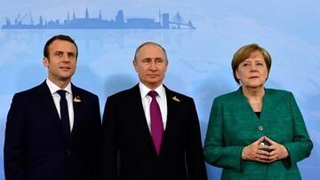 گفتگوی تصویری پوتین، ماکرون و مرکل درباره بازگشت ایران به برجام