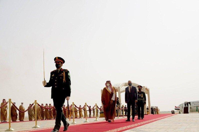 دیدار مصطفی الکاظمی با ولیعهد عربستان