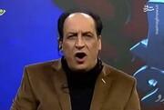 حرکات موزون مجری تلویزیون در برنامه زنده / فیلم