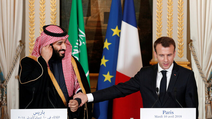 گفتگوی تلفنی رئیس جمهوری فرانسه با ولیعهد عربستان