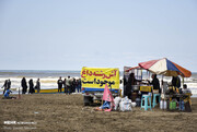 تجمع در سواحل خزر در اوج کرونا / گزارش تصویری