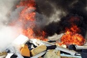 آتش سوزی مهیب در مشهد / عکس