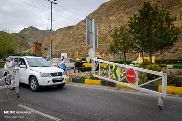 محورهای دارای بیشترین تردد طی ۲۴ ساعت گذشته | انسداد جاده چالوس و آزادراه تهران-شمال در روز طبیعت