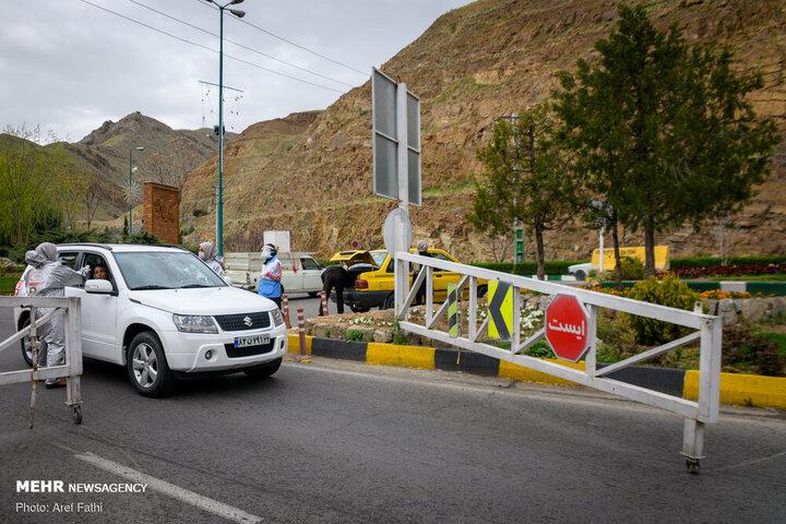 محورهای دارای بیشترین تردد طی ۲۴ ساعت گذشته   انسداد جاده چالوس و آزادراه تهران-شمال در روز طبیعت