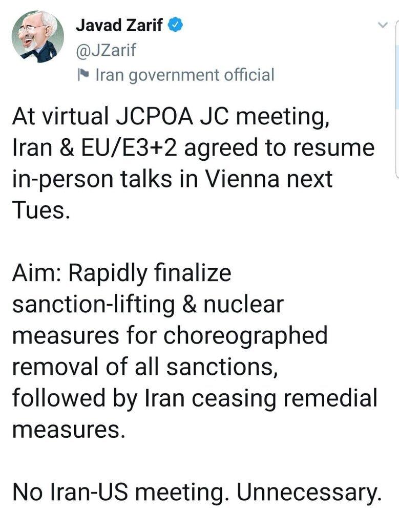 ظریف:ایران و آمریکا دیداری نخواهند داشت؛ غیرضروری است