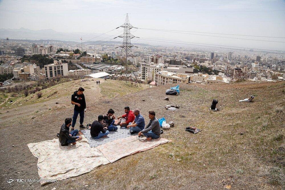 ۱۳ بدر متفاوت و خلوت زیر سایه کرونا در تهران / تصاویر