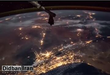 تصاویری زیبا از چهره واقعی زمین در ایستگاه فضایی/ فیلم