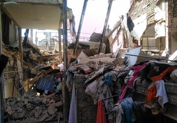 تصاویری از تخریب یک ساختمان در محله جوانمرد قصاب