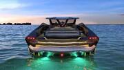 ساخت یک قایق تندرو به شکل خودرو/ فیلم