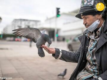 حضور چارلی چاپلین در خیابانهای مراکش / تصاویر