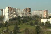 لحظه تخریب ساختمان ۲۵ هزار تنی در ۵ ثانیه/ فیلم