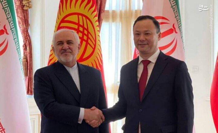 دیدار وزرای امورخارجه ایران و قرقیزستان / فیلم