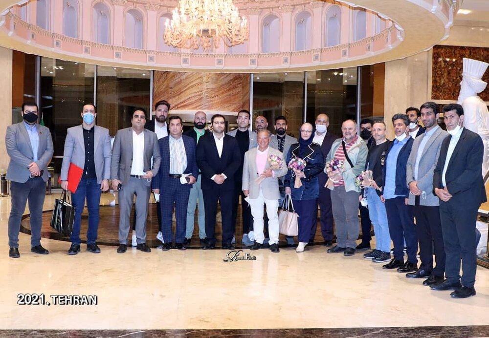 حضور رئیس فدراسیون جهانی بدنسازی و پرورش اندام در کمیته ملی المپیک