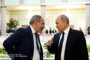 دیدار پوتین با نخستوزیر ارمنستان در مسکو