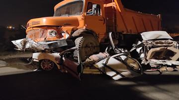 تصادف هولناک در دزفول/ ۳ جوان جان باختند + عکس