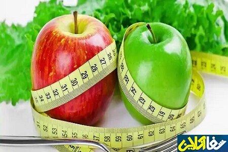 کاهش وزن و لاغری با مصرف سیب