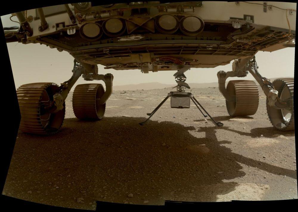 گزارش تصویری از فرود بالگرد ناسا در کره مریخ