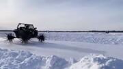 چرخهای عجیب و فولادی خودرویی برای عبور از برف / فیلم