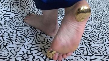 نعل کاری پا با طلا مد شد!/ عکس