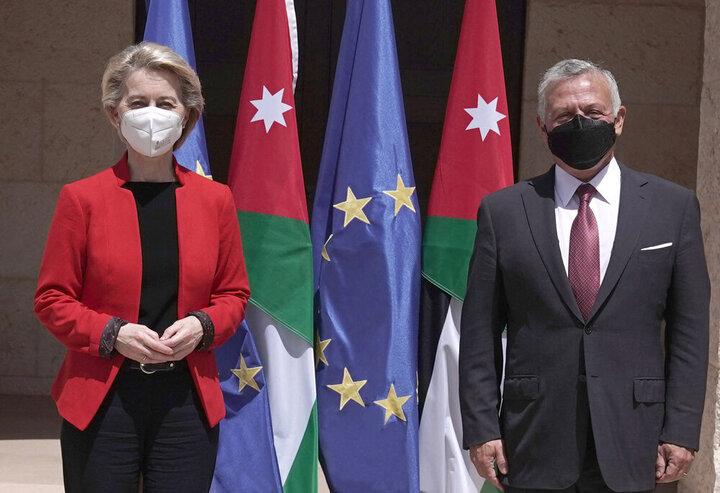 پادشاه اردن با رییس کمیسیون اتحادیه اروپا دیدار کرد