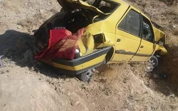 واژگونی هولناک تاکسی بین شهری در کرمان/ آمار کشتهها اعلام شد